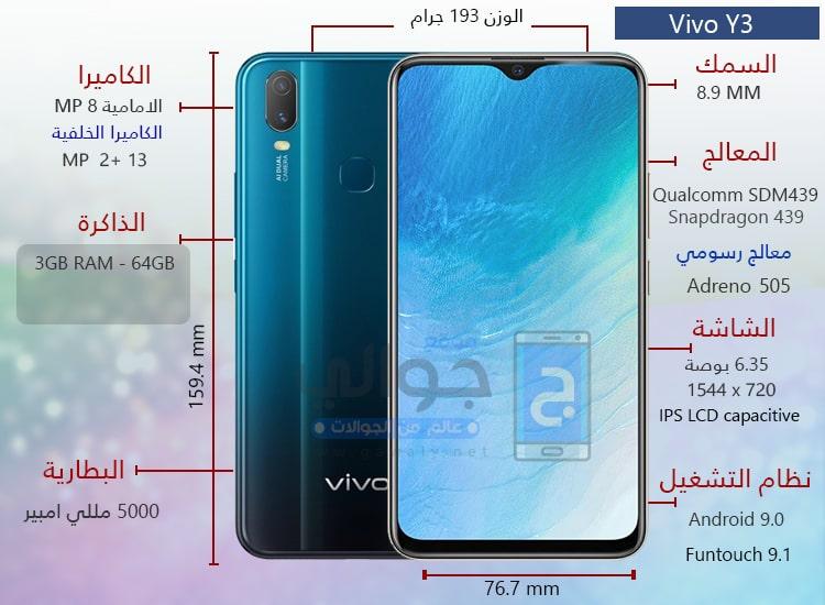 مواصفات موبايل Vivo Y3
